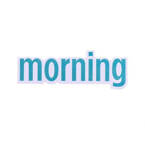 Morning Vinyl Letter Stickers