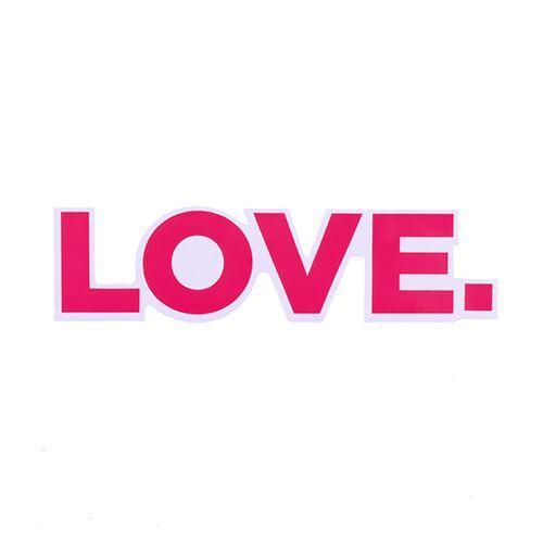 Love Vinyl Letter Stickers