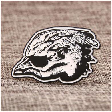 Goshawk Head Custom Pins