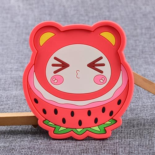 Strawberry Sister Custom PVC Coaster