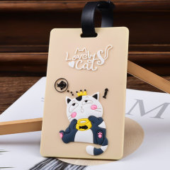 Lover Cats PVC Luggage Tag