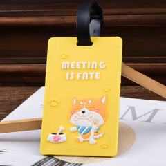 Meeting is Fate PVC Luggage Tag