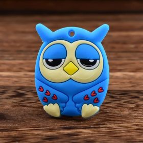 Sleepy Blue Owl Custom PVC Magnet