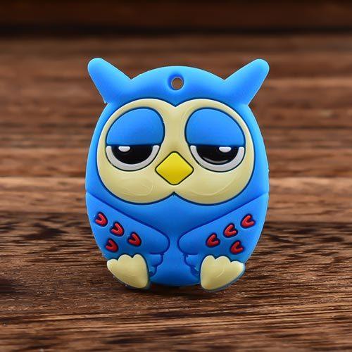 Sleepy Blue Owl Custom PVC Magnet