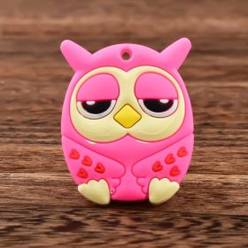 Sleepy Pink Owl Custom PVC Magnet