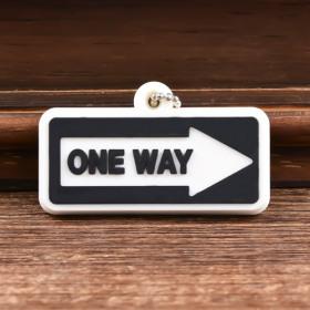 One Way Custom PVC Keychain