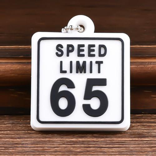 Speed Limit 65 Custom PVC Keychain