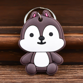 Squirrel Custom PVC Keychain