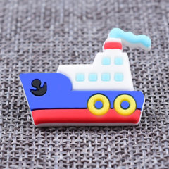 Custom 3D Steamship PVC Lapel Pins