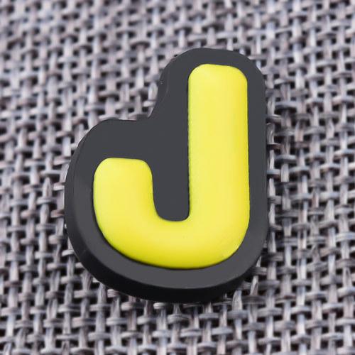 Custom 3D J PVC Lapel Pins
