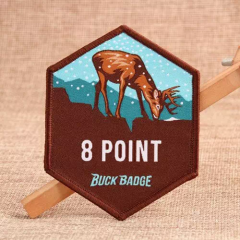 Sika Deer Custom Woven Patches