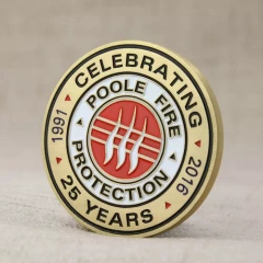 Poole Fire Protection Custom Challenge Coins