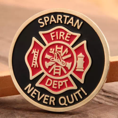 Spartan Firefighter Challenge Coins