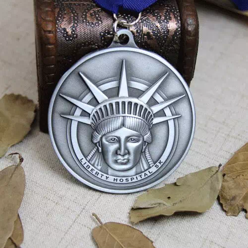 Statue of Liberty 3D Die Cast Custom Medals