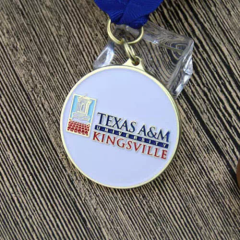 Texas University Custom Medals