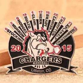 Chargers Baseball Trading Pins