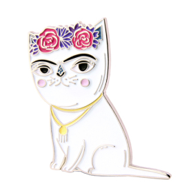 Frida Cat Enamel Pins
