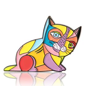 Picasso Cat Enamel Pins